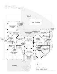 beautiful spanish influenced home floor plan 6 bedrooms 7100 0358