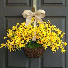 wreath for front door wreaths for front door spring wreath wreaths yellow forsythia