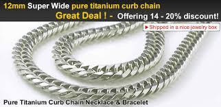 titanium curb chain necklace images Pure titanium curb chain 12mm wide version necklace bracelet jpg
