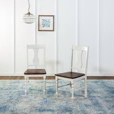Blue And White Dining Chairs by Walker Edison Furniture Company Brown And White Wood Dining Chair