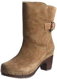 womens ugg boots on amazon amazon com ugg australia s amoret suede heels chestnut