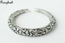 silver antique bracelet images Silver antique kada silver jewellery manufacturer from jodhpur jpg