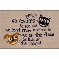 amazon com we u0027re so excited funny indoor outdoor doormat