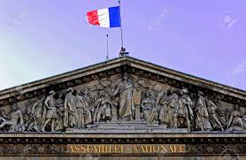 Paris Flag Image France Paris National Assembly Blue Sky And The French Flag
