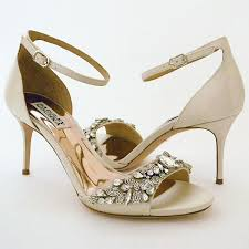 wedding shoes ankle badgley mischka wedding shoes bankston ivory bridal sandals
