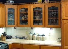 leaded doors glass kitchen cabinet 24 with decorative inserts for