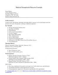 dental receptionist resume sample spa receptionist resume