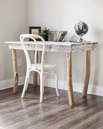 Diy Rustic Desk Rustic Tree Branch Desk Diy Angela Made