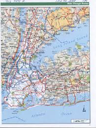 Nyc City Map 5 Borough County Ny City