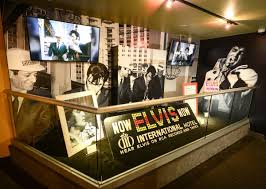 elvis presley is back in las vegas at an enormous exhibit