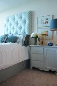 monogrammed headboard sea glass blue and coral ecw pinterest