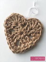 craftaholics anonymous crocheted jute christmas ornaments