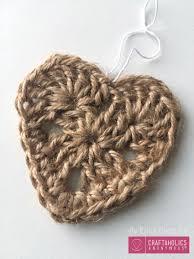 Felt Heart Christmas Ornaments Craftaholics Anonymous Crocheted Jute Christmas Ornaments