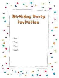 birthday invite template 43 free birthday party invitation templates free template downloads