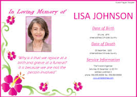 Funeral Program Designs Funeral Program Template Free Word Templates