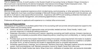 resume objective medical receptionist medical clinic receptionist resume sample medical office