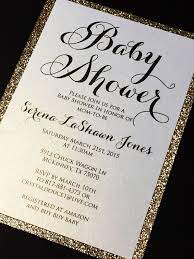 glitter baby shower invitations elegant baby shower invite serena