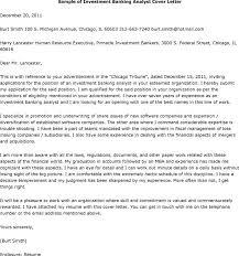 letter for investment analyst job