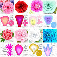 giant paper flower template set of 50 large paper flower