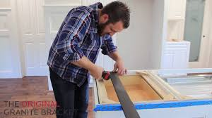 installing kitchen island how to install countertop support bracket for kitchen