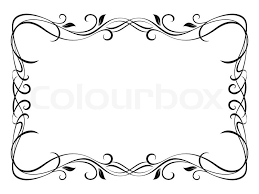 vector floral ornamental decorative frame stock vector colourbox