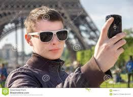 Take A Selfie A Young Man In Paris Take A Selfie Stock Photo Image 40680111