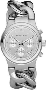watches with chain bracelet images Women 39 s watches michael kors chronograph chain bracelet silver jpg