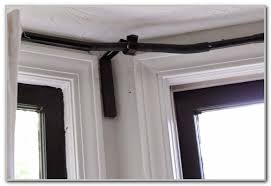 Bay Window Curtain Rod Bay Window Curtain Rods Ikea Curtains Home Design Ideas