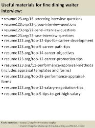 Sample Resume Waiter by Waiter Resume 5 Sample Waiter Resumes 2017 Free Download 3210