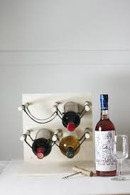 diy wood u0026 leather wine rack the merrythought