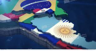 South America Flags 4k South America Flag Map 3x 10 Second Clips Stock Animation 8787150