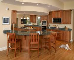 the curved kitchen island the great combinations between the