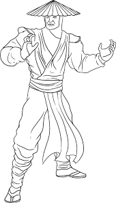 mortal kombat coloring pages 13586 bestofcoloring com