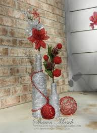 wine bottle crafts for christmas home decorating interior