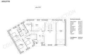 plan de maison en v plain pied 4 chambres plan maison free floor plan best family house plans ideas
