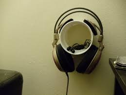 make a 3 headphone holder with pvc pipe connector holds both your