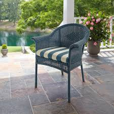 Patio Stack Chairs by Mason Green Brookside Set Of 2 Wicker Stack Chairs Blue