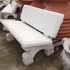 panchine da giardino in ghisa panchina lavorata cm 130 in cemento marmo pietra da giardino no