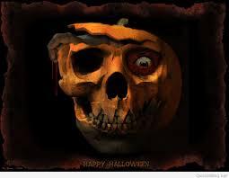 halloween skull pumpkin background happy halloween wallpaper 2015
