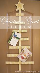 christmas card holder how to make a christmas tree card holder confessions of a serial