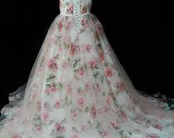 floral wedding dresses floral wedding dress etsy