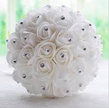 bridal flower beautiful white ivory bridal flower wedding bouquet artificial