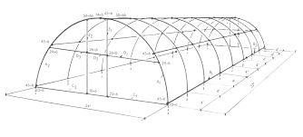 green house plans parts and diagram that describe the construction of a quonset