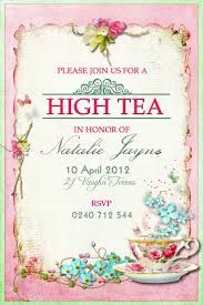 Sweet 16 Birthday Invitation Cards Best 25 High Tea Invitations Ideas On Pinterest Tea Party