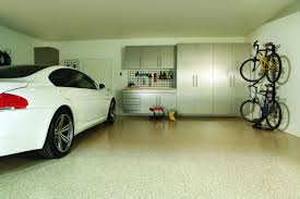 fantastic interior design of garage design ideas with wooden racks spacious garage design ideas for one car also bicycles with sleek white cupboard