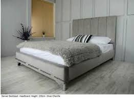 denver chenille bed frame beautifully upholstered in a choice of