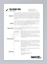 good resume layout samples best 25 good resume templates ideas on