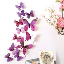wall sticker smtsmt 12pcs decal home decorations 3d butterfly wall sticker smtsmt 12pcs decal home decorations 3d butterfly rainbow purple