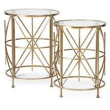 z gallerie side table exeter tables set of 2 small occasional tables small spaces