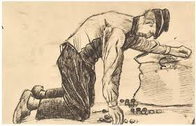 man putting potatoes in a sack by vincent van gogh 1997